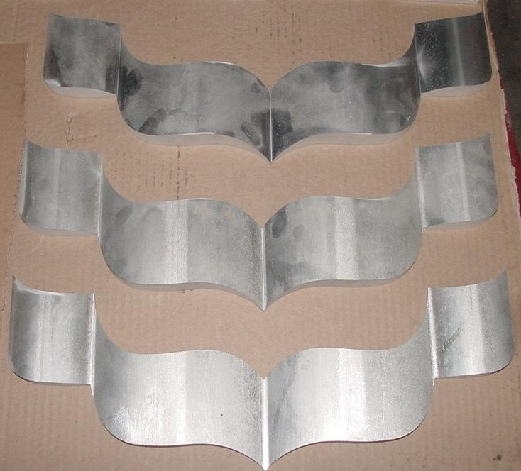 "Aluminum ""ribbons"" milled to thickness prior to waterjet cutting to shape"