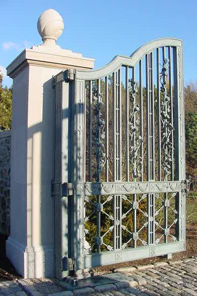 Bronze gating in Newport, Rhode Island