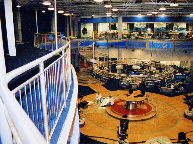 Set design work & spiral staircase work for Fox 25 News in Boston, MA