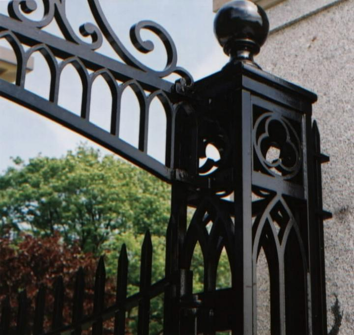 Waterjet cut archway & post for Providence College